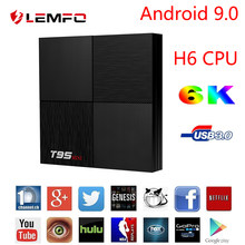 ĐỒNG HỒ THÔNG MINH LEMFO 2019 Mới Nhất T95 Mini Smart TV Box Android 9.0 H6 Quad Core Cortex-A53 GB RAM 16 GB 6 K USB 3.0 Airplay Goole Play Set Top Box(China)