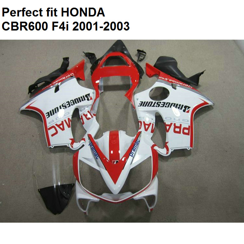 Injection molding fairing for Honda CBR 600 F4i 2001 2002 2003 white red fairing kit CBR600 F4i 01 02 03 CV01 hot sales 2007 2008 cbr600 fairing for honda cbr600rr f5 cbr 600 cbr 600rr 07 08 cbr 600 repsol fairing kit injection molding