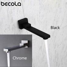 Твердый бас настенный душ носик для ванной смеситель для душа кран Носик наполнитель 180 градусов складной