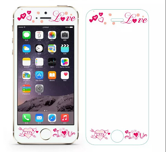premium selection 68f5c cc17b US $6.0 |Cute Cartoon Hello Kitty Design Front Tempered Glass Screen  Protector For iPhone 5 5S 5G Protective Glass Film-in Phone Screen  Protectors ...