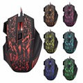 Darshion S8 Optical backlit Wired Gaming Mouse 7 Button LED Optical USB Computer Mouse Mice 3600DPI Colorful Breathing Light