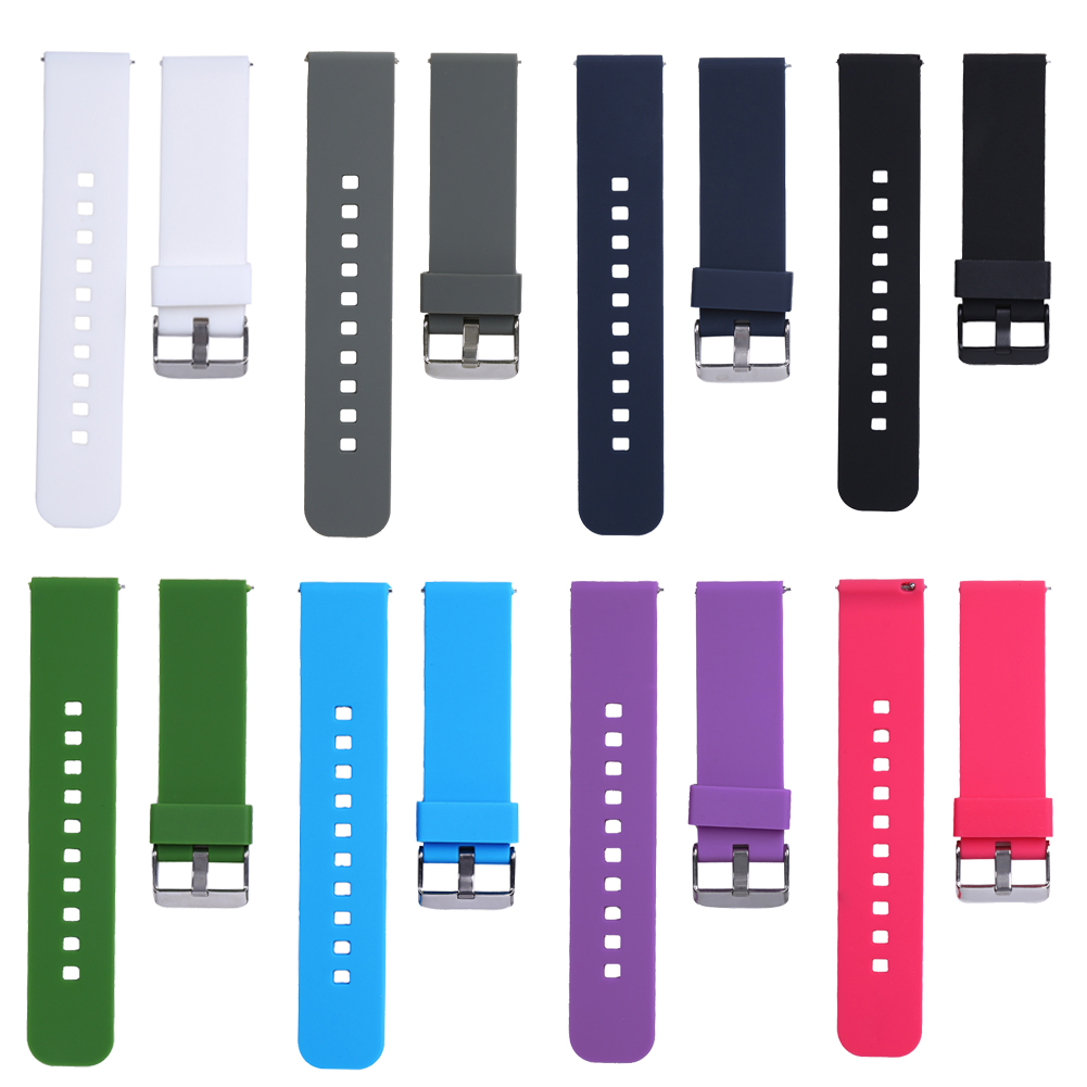 Soft Silicone Replacement Sport Watch Wrist Band Strap for Cookoo2 Watch Pebble Time LG MOTO360 2rd Generation Watchbands Belt