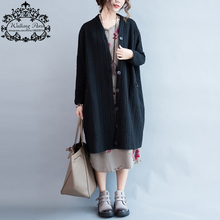 Autumn Plus Size Women Coat Cotton Striped Long Sleeve Black Cardigan Solid Fashion Big Size Female New Buttons Casual Jacket