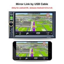 """НОВЫЙ 2 Din Автомобильный Видео Плеер 6.6 """"HD Сенсорный Экран, Bluetooth Стерео радио FM MP4 MP5 Аудио USB TF Автомобильная Электроника В Тире 2din"""