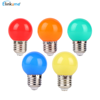 LED light bulb color E27 screw port 3W red small bulb outdoor decoration atmosphere colorful lighting energy saving lamp 50 Pcs
