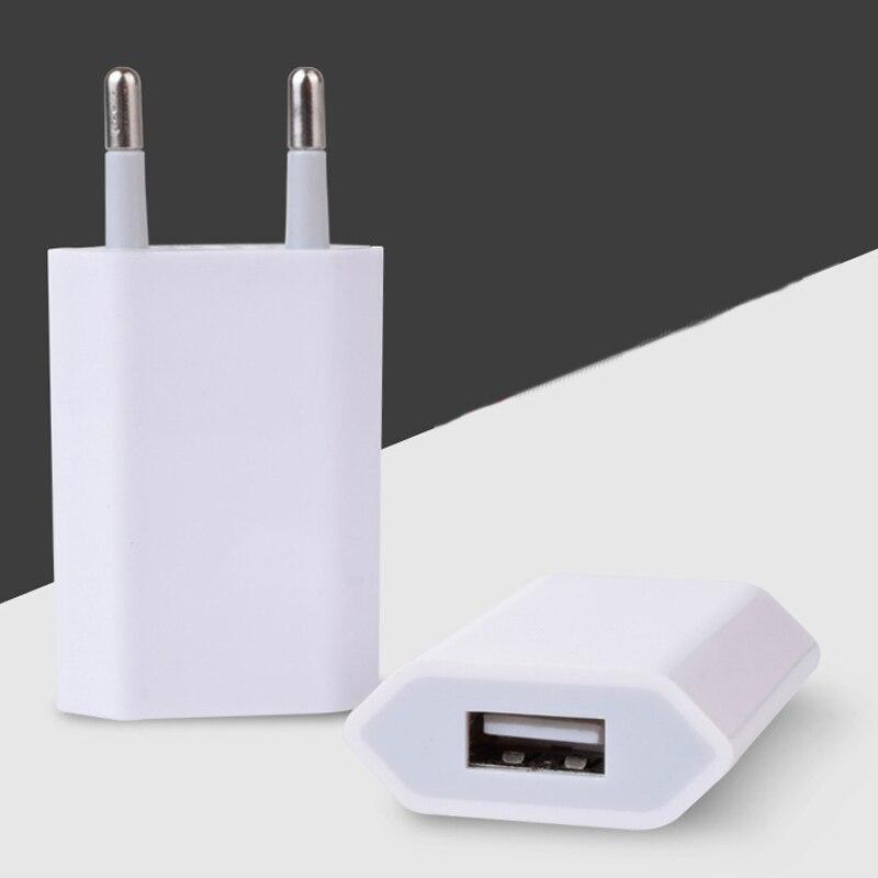 10 unids/lote/cargador de teléfono USB viaje teléfono móvil Enchufe europeo 5 V 1A adaptador de corriente de pared para iPhone para iPad para Samsung Xiaomi Huawei