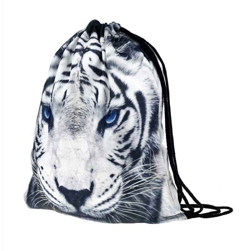 DCOS-Pattern Drawstring Gym Bag Cute Backpack Gift Polyester School Rucksack