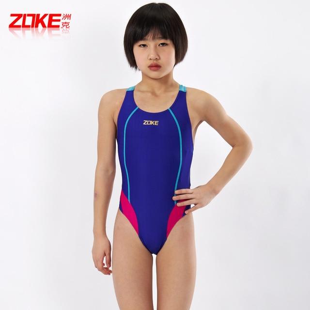 9aa66f3709 Teenage professional swimwear female child boy big boy one piece swimwear  swimsuit triangle