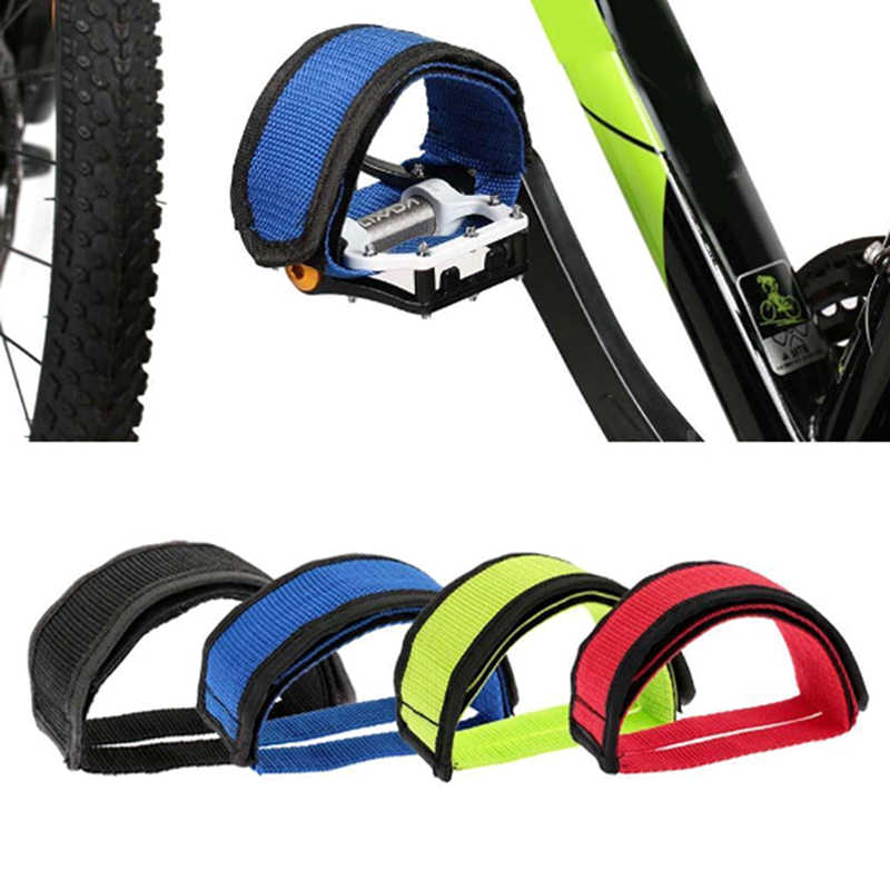 1pc Fixed Pedal Strap Adhesive Straps Pedal Toe Clip Strap Belt Bike Bicycle
