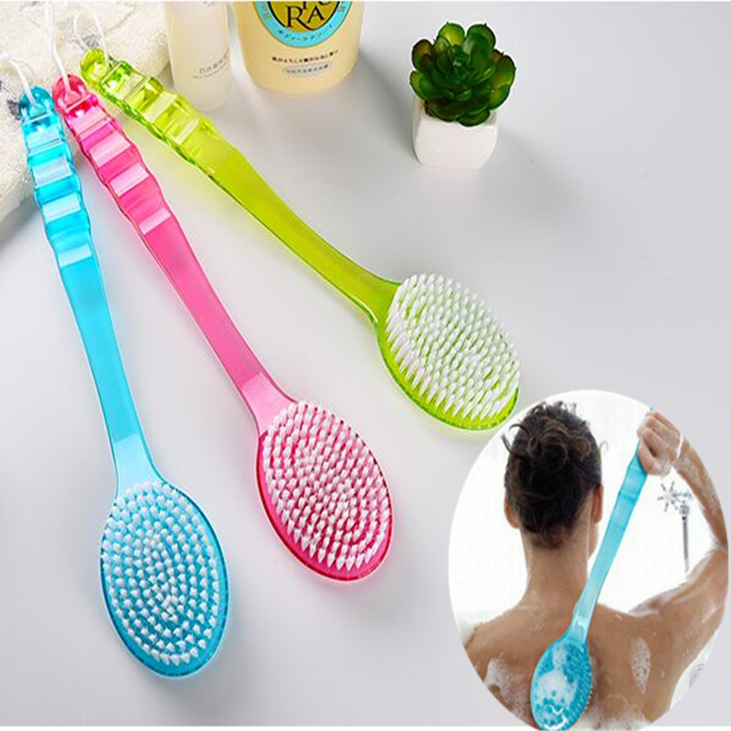 Hot sale Long Handled Body Brush Massager Scrub Skin Shower Back Brush Scrubber Health Care helper Bathroom accessories