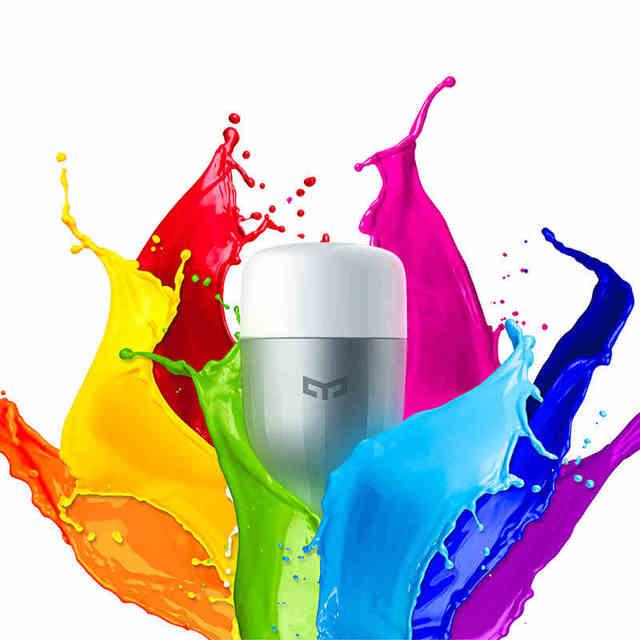 Xiaomi inteligente temperatura romântico colorido lâmpada led rgb luz controle yeelight com wifi app para ios android phone