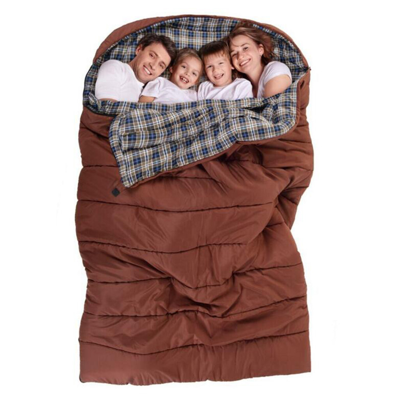 Large Family Sleeping Bag Double Person Liner Cotton Nature Hike Kid Children Lover S Hangout Outdoor Camping In Bags From