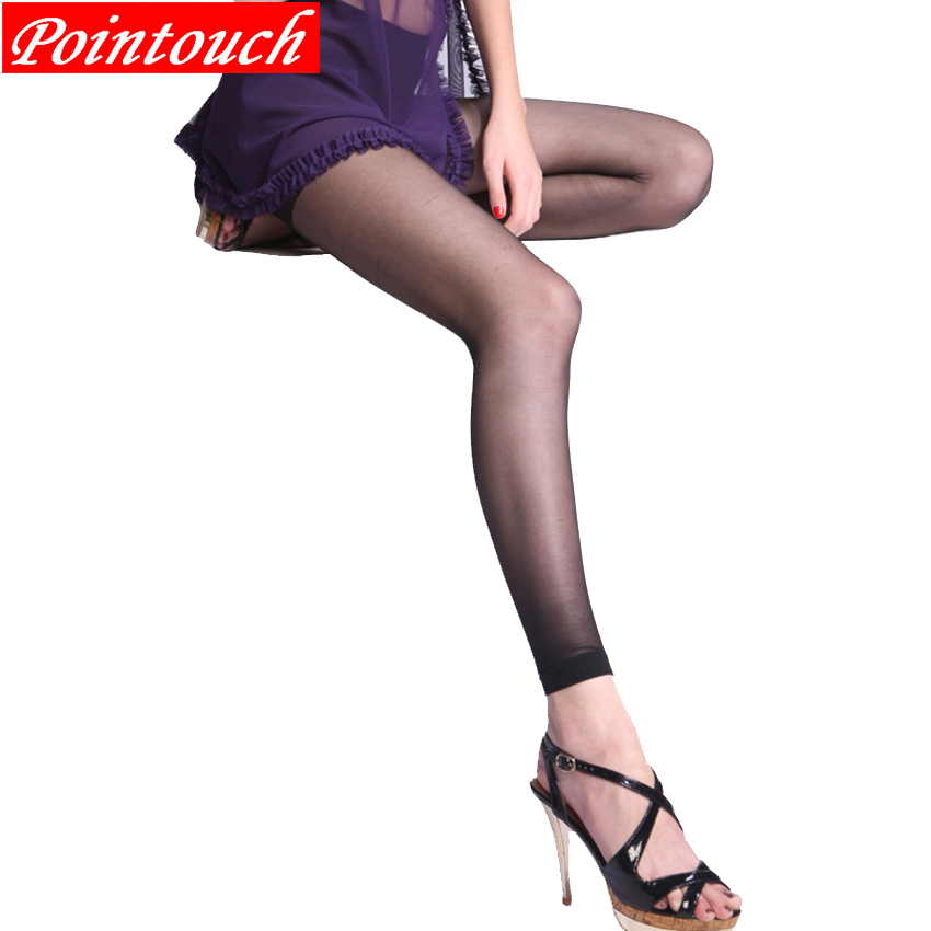 POINTOUCH Sexy Summer Thin Tights Ninesub Stockings High Elastic Prevent Hook Women Seamless Pantyhose Medias Girl Panty