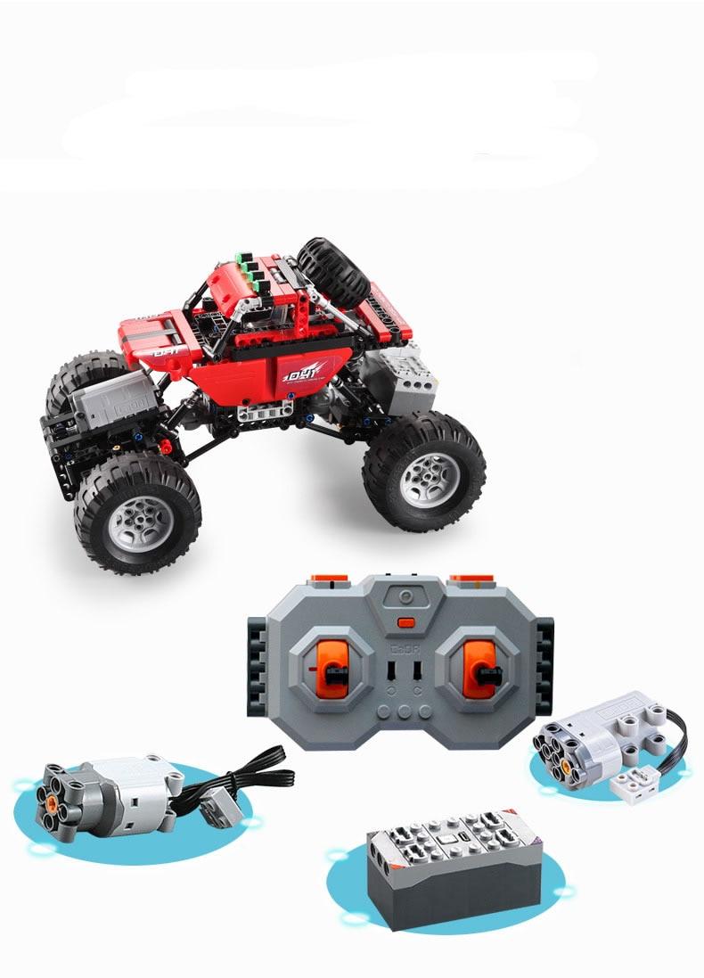 489 pièces Technique Série RC modèle voiture de sport de voiture SUV bricolage Building Block Voiture jouets briques Pour Enfants compatible avec Legoed - 4