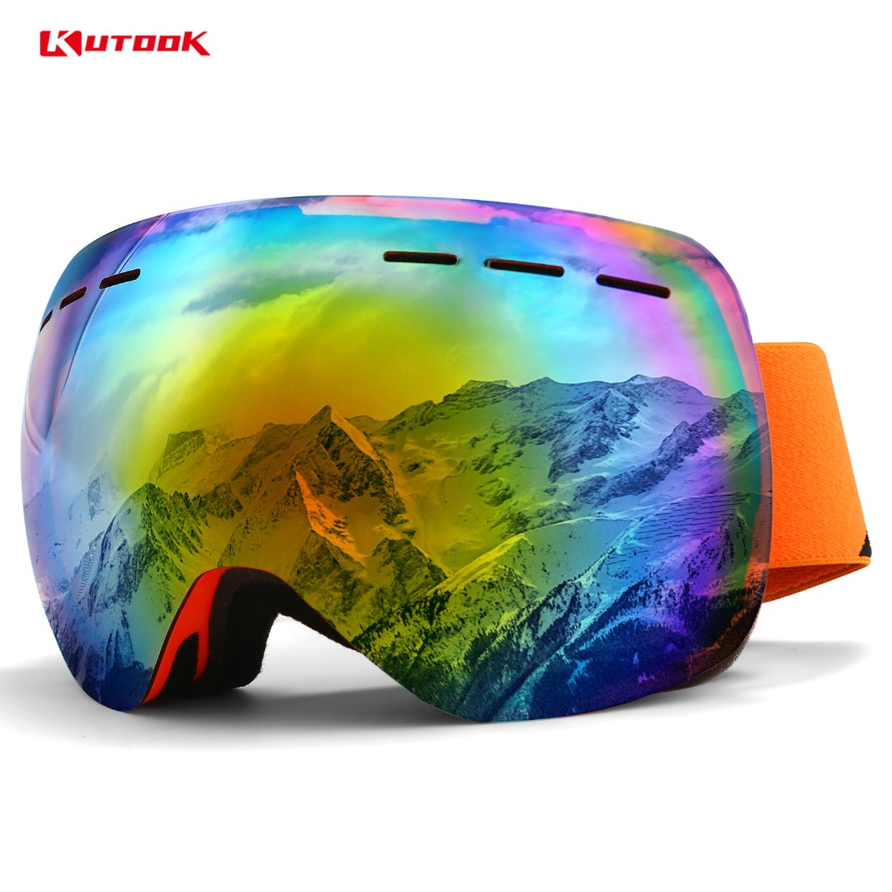 a518feac6af KUTOOK UV400 Protection Double Lens Snow Glasses Snowboard Goggles Anti fog  Ski Glasses Snow Goggles Windproof