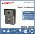 ASDIBUY Megapixel full duplex two way audio wifi video door bell outdoor waterproof smart phone talk network doorphone