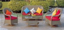 Garden sofa set furniture in rattan material Patio wicker sofa set