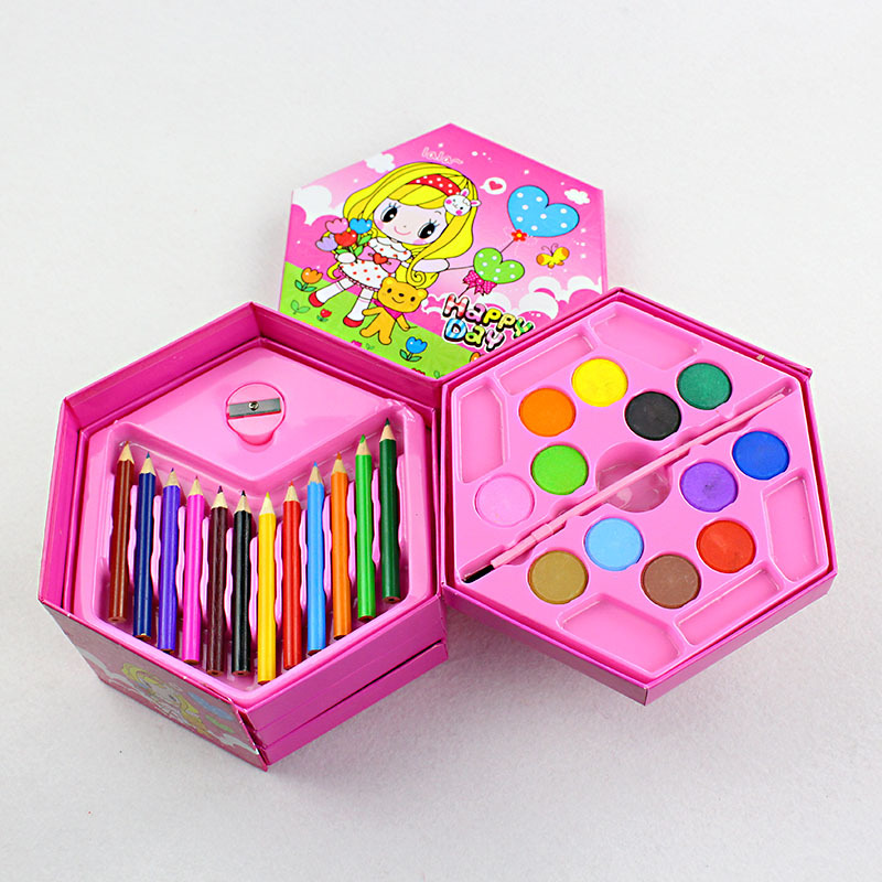 Cute Kawaii Cartoon Colored Pencil Crayon Painting Pastel Set For Kids Gift Korean Stationery Free Shipping many colored diy hair chalks clay dolls pastel painting creative convenient hair dye chalk alcohol free stationery