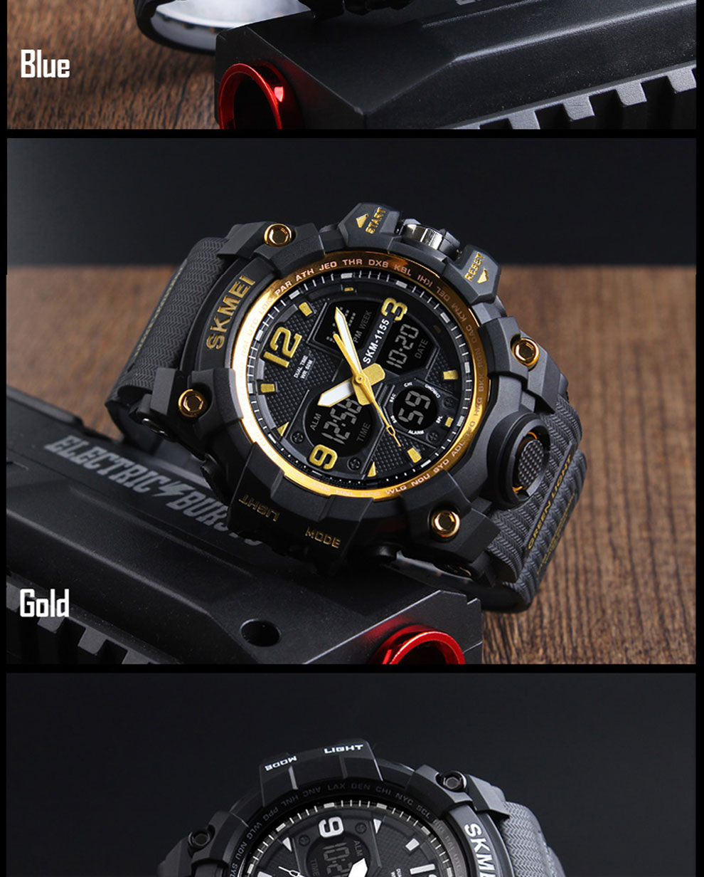 HTB14SRwRwHqK1RjSZJnq6zNLpXaq SKMEI Brand Luxury Military Sports Watches Men Quartz Analog LED Digital Clock Man Waterproof Dual Display Wristwatches Relogio