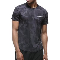 ESHINES Fashion New Men's Casual Quick drying Running Fitness Clothes Basketball Training Stretch T shirt Breathable Sweat Shirt