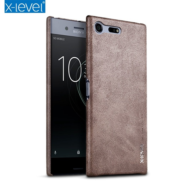 timeless design 3621f 76bac US $7.49 25% OFF|X Level Luxury Retro PU Leather Case For Sony Xperia XZ  Premium Back Cover for Sony XZ Premium G8141 G8142 Dual Sim Vingate Case-in  ...