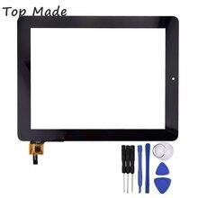 9.7 pulgadas de Pantalla Táctil QSD E-C97015-01 para iDrQ10 iDsQ10 iDsQ 10 3G Tablet PC Reemplazo Digitalizador con Herramientas de Reparación