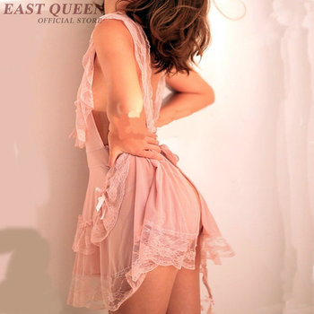 Novelty special use lingerie for sex see through nightgown women lace nightwear sexy sexy clothes for sex transparent  FF725 8