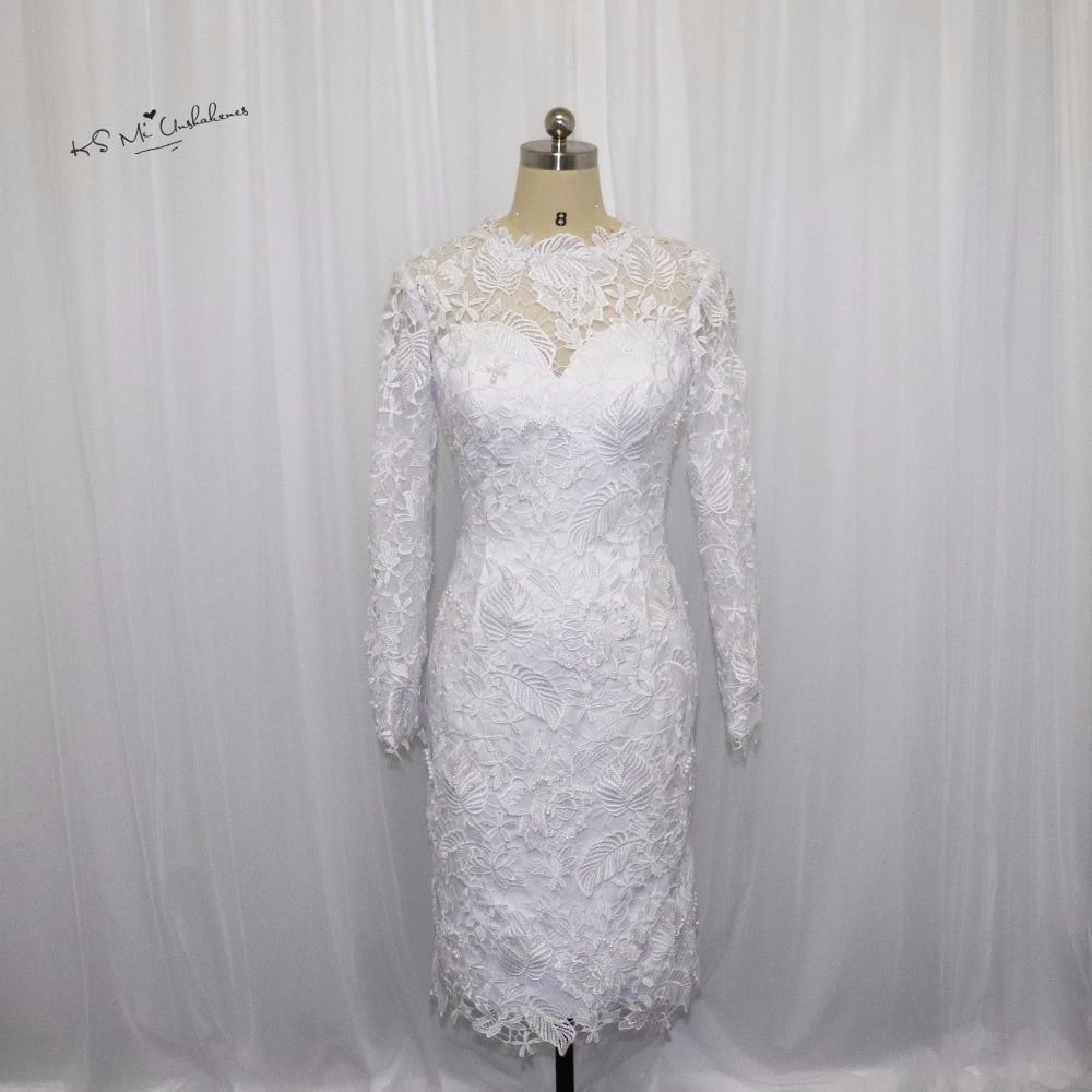 09a1d7e760 Archiwalne Zima Długim Rękawem Mała Biała Suknia Wieczorowa Koronki Perły  Importowane Party Dress Krótki Prom Dresses Vestido de Festa Curto
