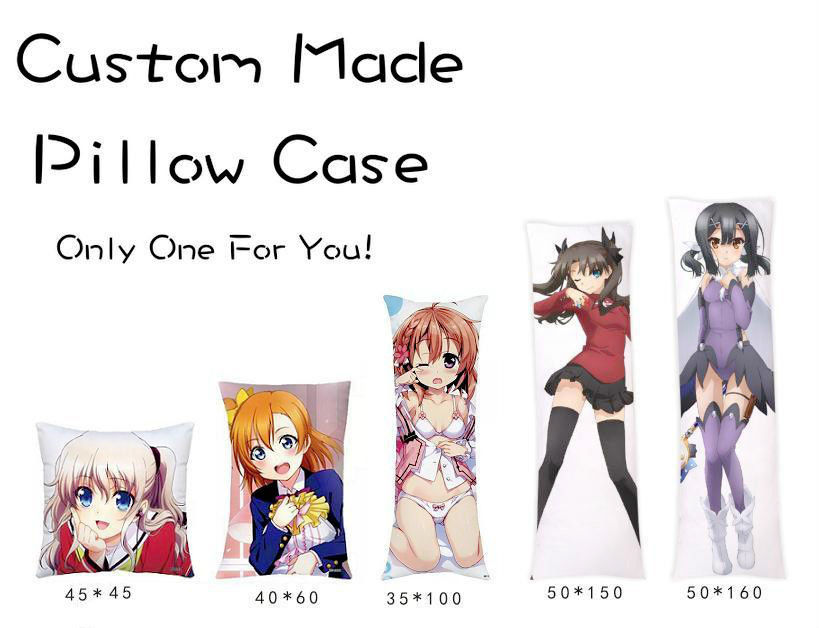 Japansk Anime Custom Made DIY Hugging Body Pillow Cover Case To Sides Pillow Cases Personlig dropshipping grossist
