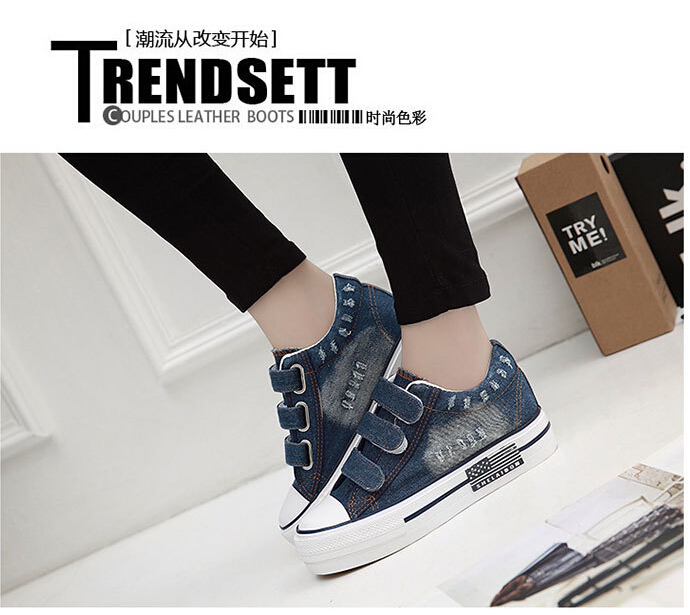 Free Shipping Spring and Autumn Men Canvas Shoes High Quality Fashion Casual Shoes Low Top Brand Single Shoes Thick Sole 7583 -  -  (2) -  -  -