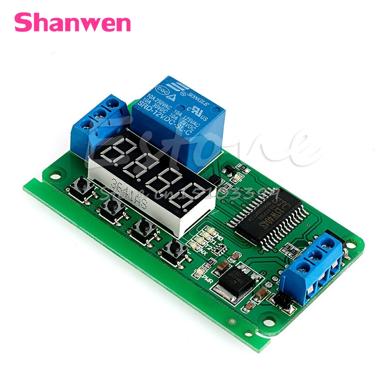 DC 12V Multifunction Self-lock Relay PLC Cycle Timer Module Delay Time Switch G08 Drop ship dc 12v led display digital delay timer control switch module plc automation new