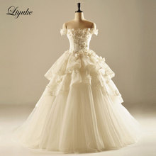 Liyuke J165 Elegant Tulle Wedding Dresses Bride Dress