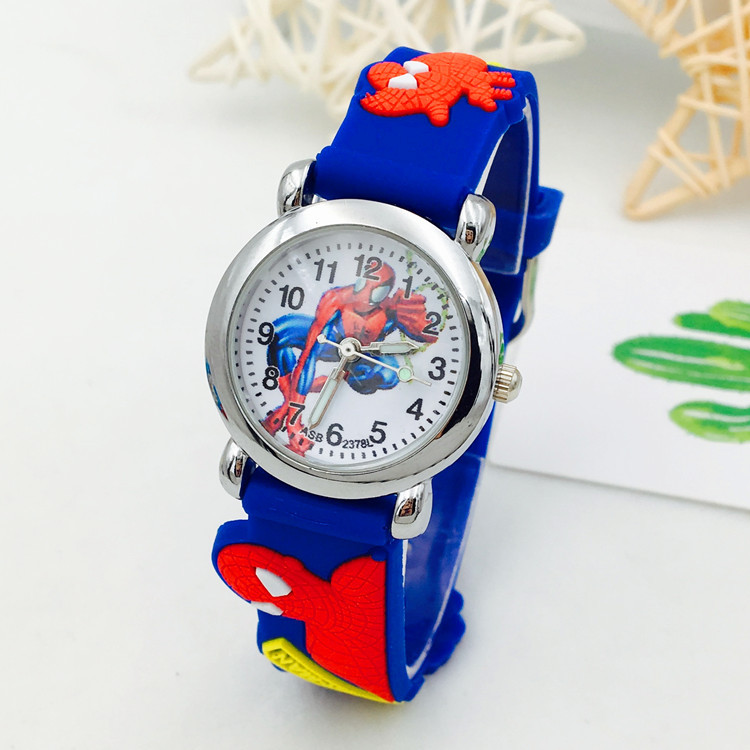 Children's Watch Boy girl Spider-Man Child Electronic Quartz Watch Pupil Silicone Cartoon Spiderman kids Watches Christmas gift