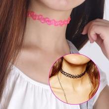Moda colar estilo elástico tattoo choker mulheres colar de presente da jóia original do vintage acessórios c591
