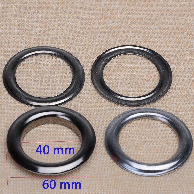 40mm Gunmetal Grommets Drapery Curtain Eyelet Handbag Metal Eyelet 1 3/5 Inch Inner 200pcs/lot