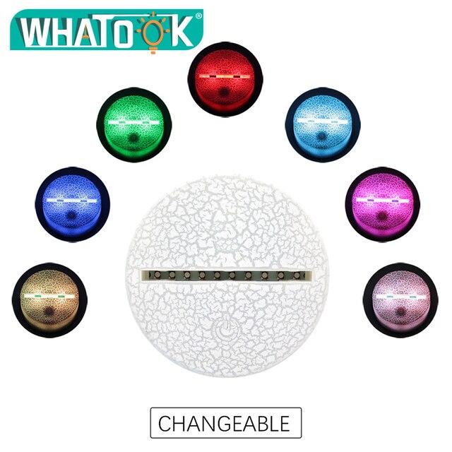 3D Scar Lamp Rocket Launcher LED Night Lamps Fortnite 3D Lights 7 Color Changing 4