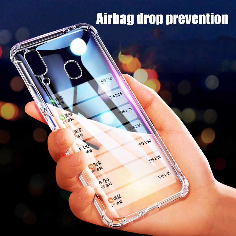 Anti-drop Transparent Case For Samsung Galaxy A50 A70 A40 A30 A10 A20 m30 m20 m10 A 50 Smart Phone Protection Back Cover image