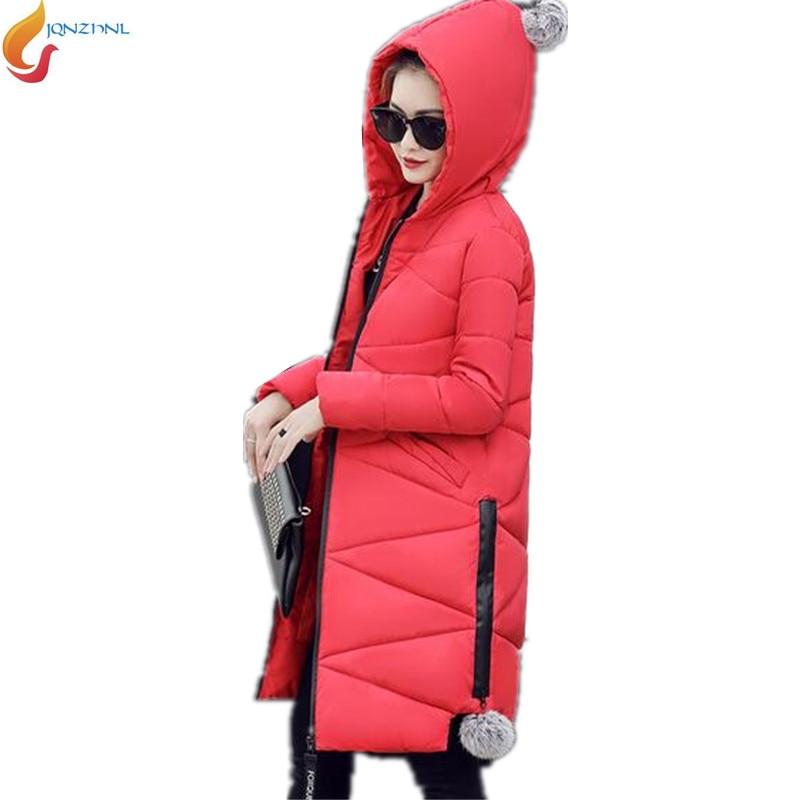 Women Thick Warm Long Winter Jacket Women Parkas 2017 Hooded Cotton Padded Winter Plus size Coat Female Manteau FemmeAD54JQNZHNL