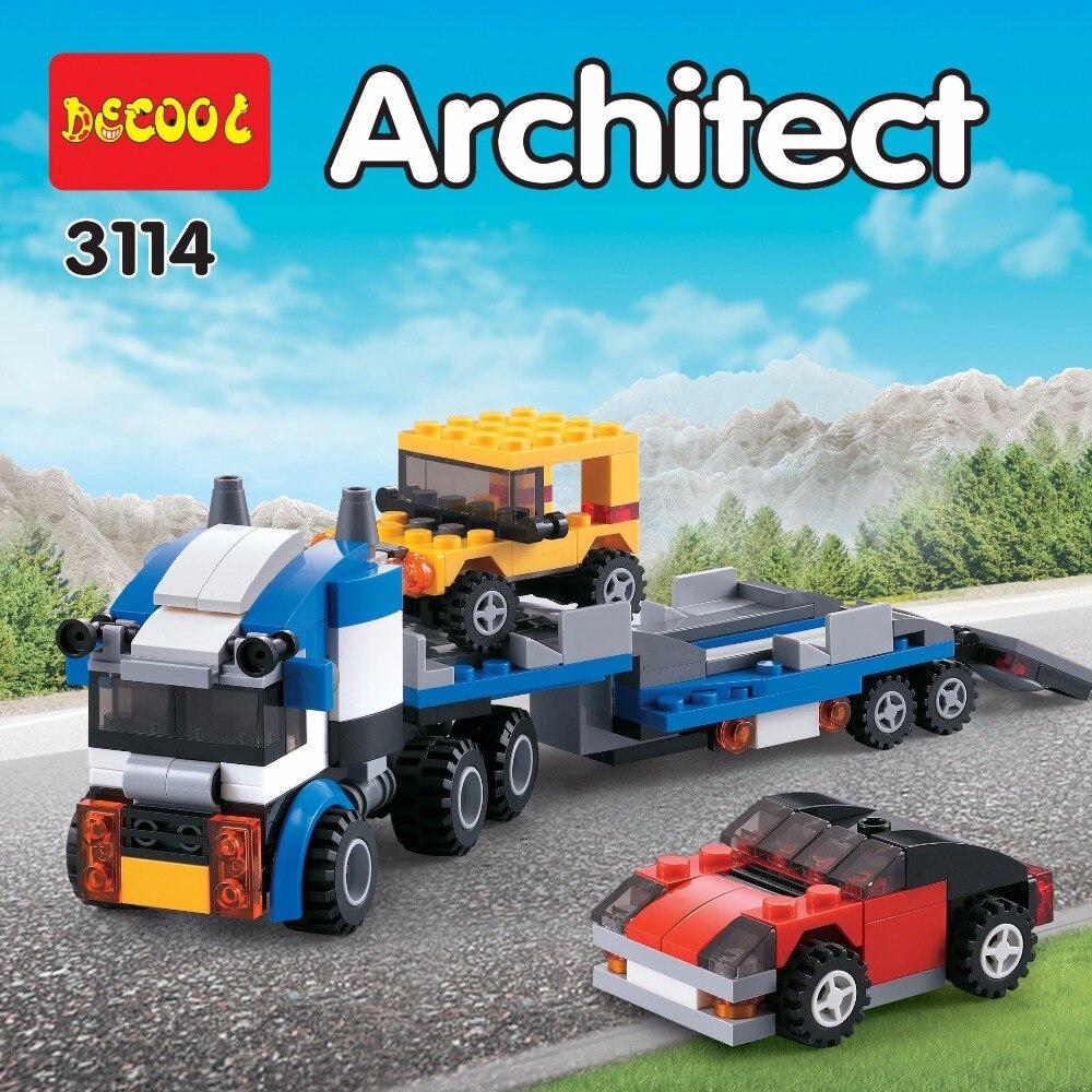DECOOL City Creator 3 en 1 Transportador de vehículos Grúa Bloques - Juguetes de construcción - foto 3