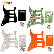 Pleroo Guitar Accessories left handed Pickguards with back plate for Fender Stratocaster Standard ST HSH Guitar Scratch Plate