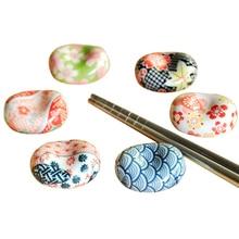 Милая японская керамика посуда слитки подставка для палочек для еды стойка фарфоровая Ложка Вилка подсвечник, декоративные изделия Прямая
