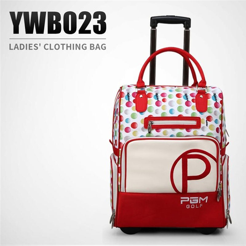 купить Pgm Nylon Golf Clothes Bag Waterproof Durable Traveling Bag With Wheel Carry Bag Women Golf Clothes Luggage High Quality D0080 по цене 5073.29 рублей