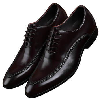 Newest Black / Brown Formal Social Shoes Mens Dress Shoes Genuine Leather Business Derby Shoes Man Wedding Groom Shoes Formal Shoes