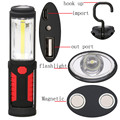 USB Charging LED Flashlight Torch Lamp COB Work Stand Lights Magnetic + HOOK + Mobile Power For Your Phone Outdoor