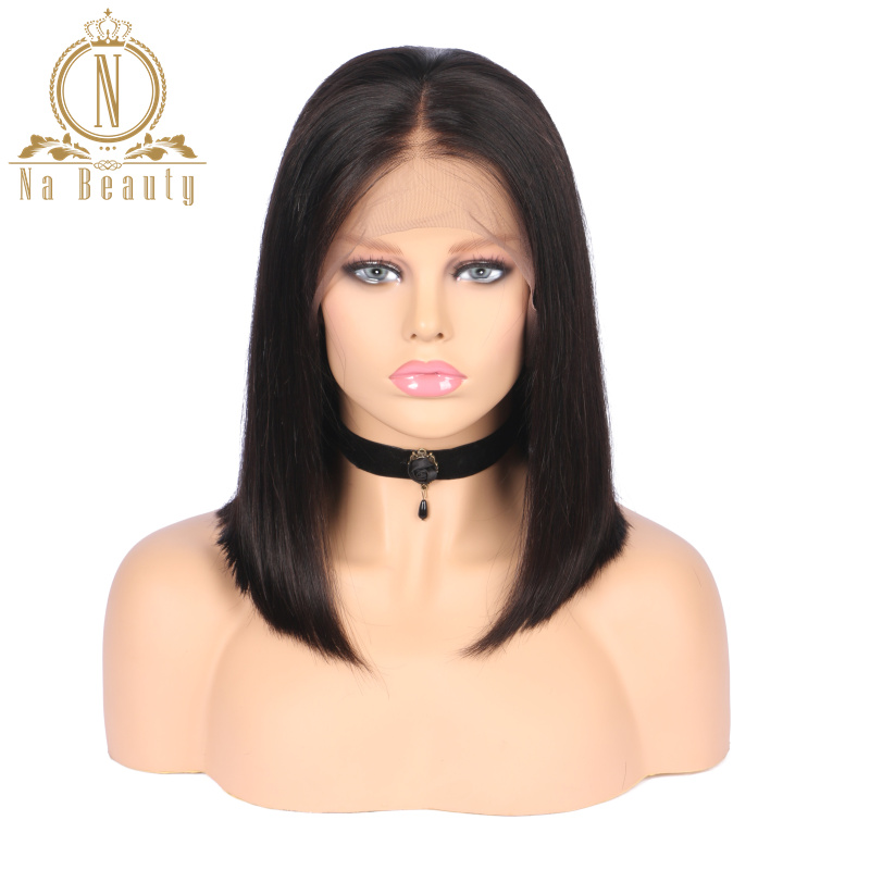 HTB14STwPbvpK1RjSZFqq6AXUVXaQ 613 Short Bob Wigs 1B 613 Ombre Honey Remy Pre Plucked Straight 13x6 Blonde Lace Front Human Hair Wig for Women Natural Black