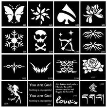 50 Pieces Small AirbrushTattoo Stencil Drawing Painting, Glitter Tattoo Stencils For Woman Kids Temporary Henna Tattoo Stickers
