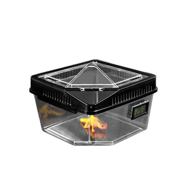Высококачественный Террариум для разведения рептилий коробка для черепах, змей паук ящерица насекомое, Жук дом акриловая коробка с темометром корыто