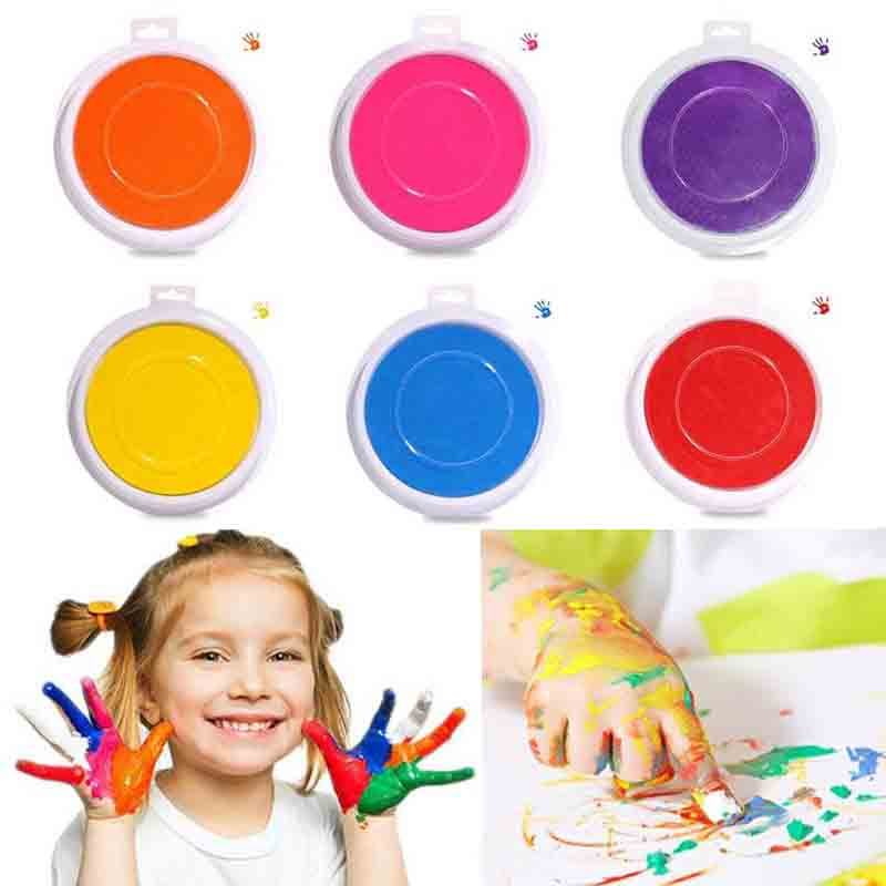 Single Color Ink Pad DIY Finger Painting Funny Large Round For Kids Learning Education Drawing Toy Multiple Selection