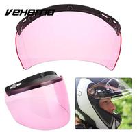 Vehemo קסדת מגן ורוד עדשה Visor אופנוע 3 הצמד חלקי האופנוע מעשי עבור להארלי