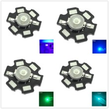 10pcs 1W 3W High Power LED Full Spectrum White Warm white Green Blue Deep Red 660nm Royal blue IR UV With 20mm Black Star PCB 50pcs 1w 3w high power warm white cool white natural white red green blue royal blue 660 uv ir850 940 led with 20mm star pcb